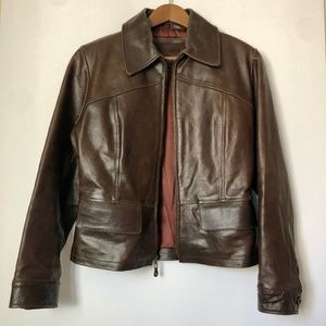 Vintage 100% Leather Guess Women's Jacket